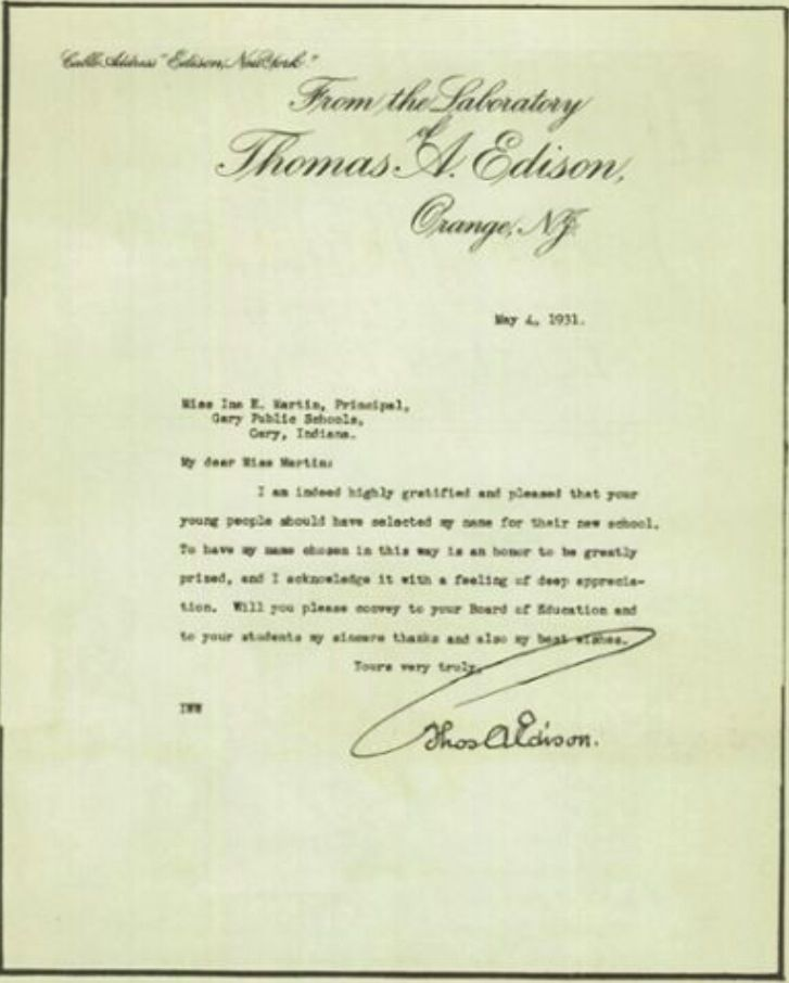 thomas edison letter letter from a edison that use to be framed and 25267 | 8db7fd0a60efd6391686bba14a04a94f