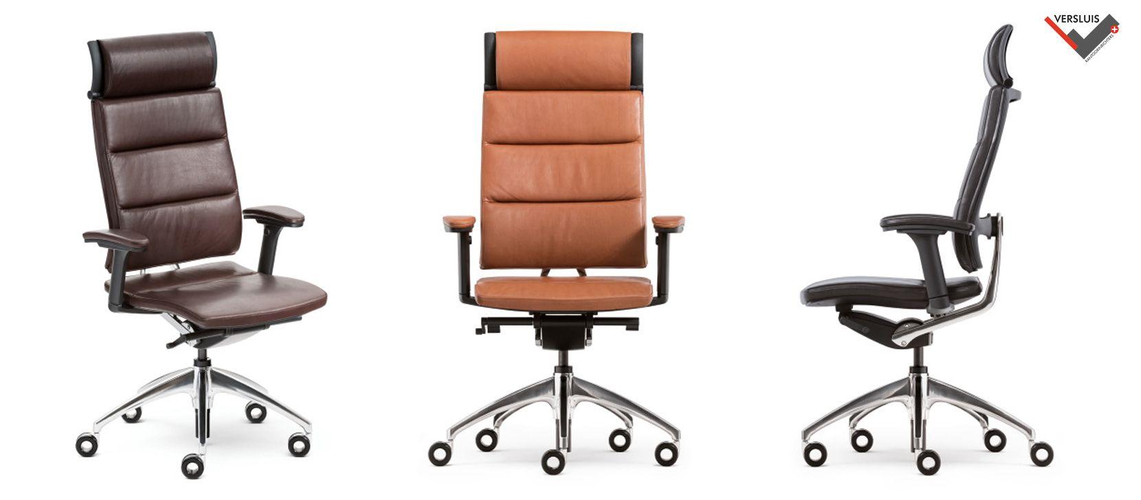 Bureaustoel Met Neksteun.Een Geweldige Lederen Directiestoel Prachtige Bureaustoel Met