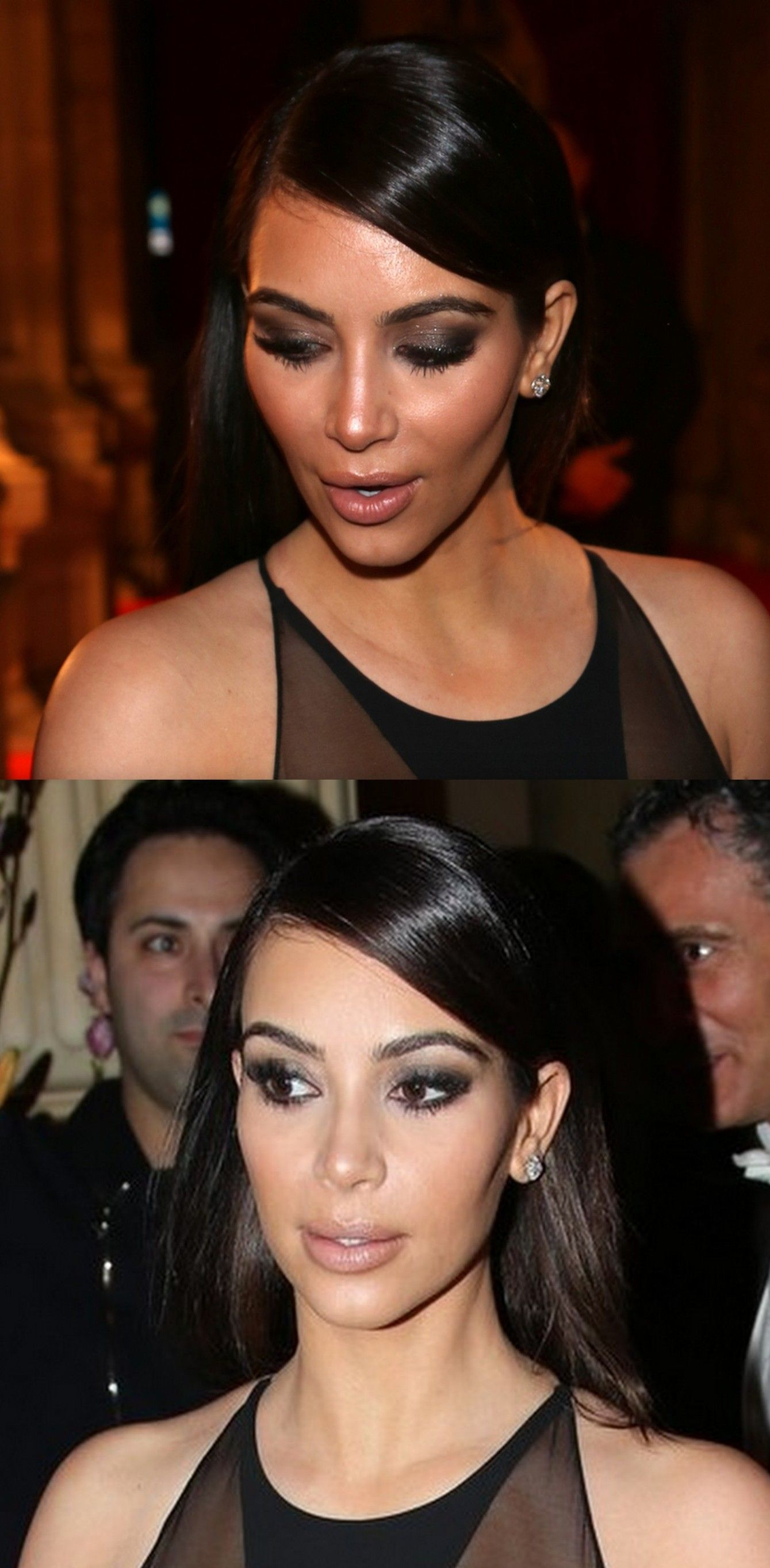 Pinterest: DEBORAHPRAHA ♥ Kim Kardashian smokey eye red ...