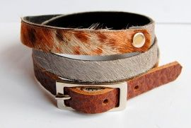 armband combinatie bont grijs