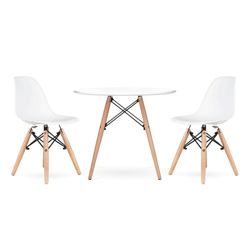 Agate Cove Kids 3 Piece Round Writing Table And Chair Set Modern Childrens Furniture Round Table And Chairs Kids Table And Chairs