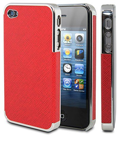 iPhone 4 Case, Case Ace® Gold Leather Case For iPhone 4 4S, Chrome Leather Case Super Fit iPhone 4/4S Case for Apple iPhone 4 4S Fits AT&T, Sprint, Verizon, T-Mobile (Red/Chrome) Ace Case http://www.amazon.com/dp/B00LIA694C/ref=cm_sw_r_pi_dp_KvI0ub1Y57NG9