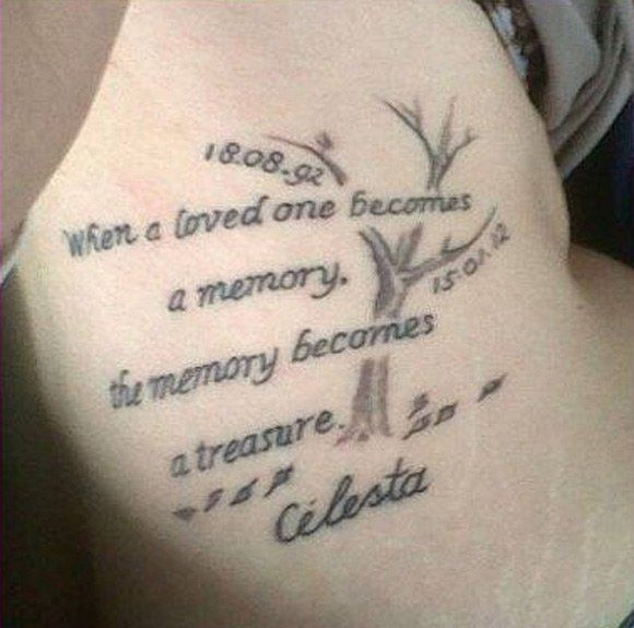 Tattoo Quotes For Passed Loved Ones: Memorial Tattoos, Tattoo And