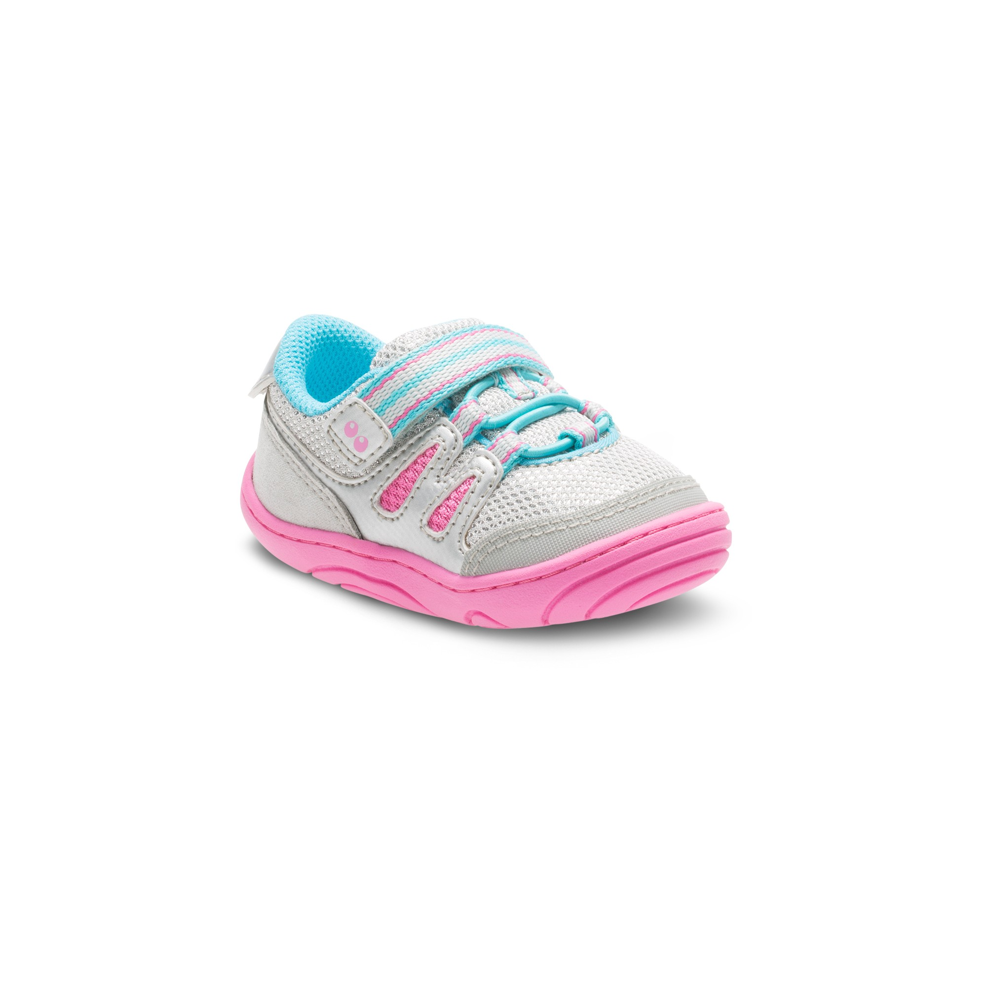Baby Girls Surprize by Stride Rite Avril Bungee Sneakers Silver