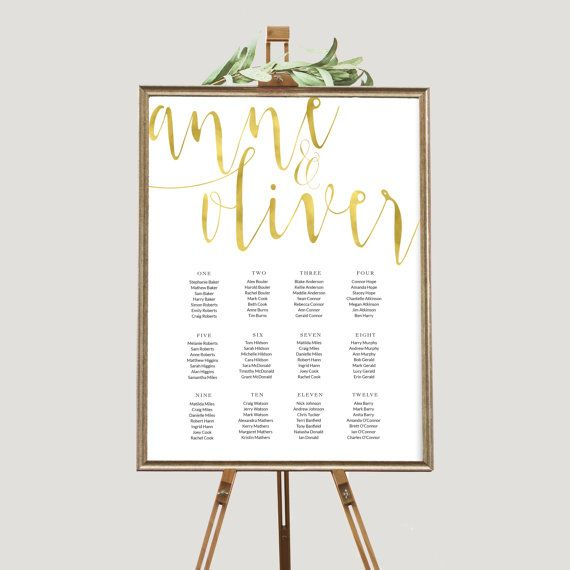 Gold seating chart, Rustic seating chart, Wedding seating chart