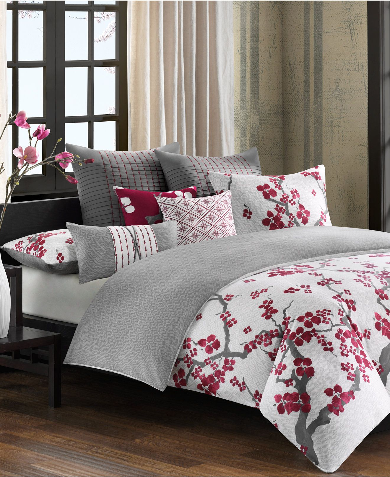 n natori cherry blossom comforter sets and duvet covers  bedding  - n natori cherry blossom comforter sets and duvet covers  beddingcollections  bed  bath