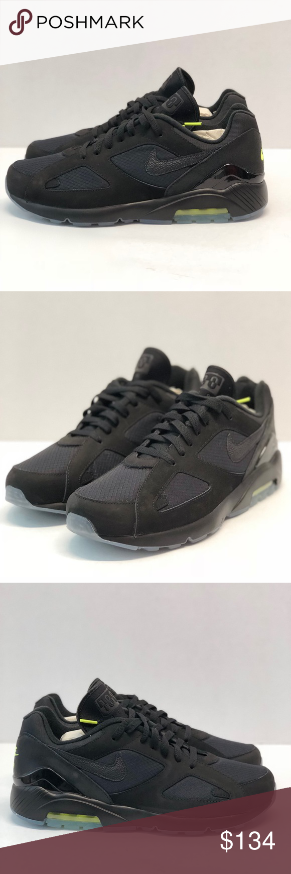 """Men s Nike Air Max 180 """"night ops"""" pack - Black volt Please inspect all  pics! Thank you! Nike Shoes Sneakers 249c79f55"""
