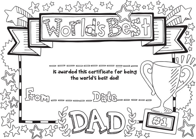 Free Father's Day Certificate Download Father's day