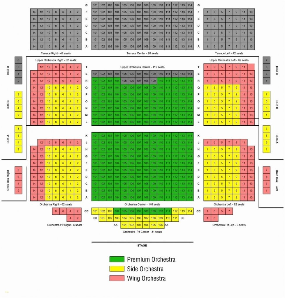 Shn Orpheum Theatre Seating Chart