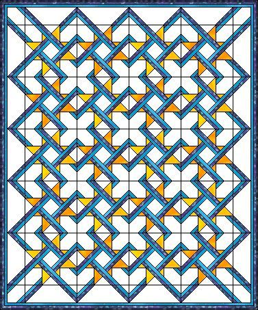 Cool quilt block pattern, I think it would look amazing using red ... : cool quilt patterns - Adamdwight.com