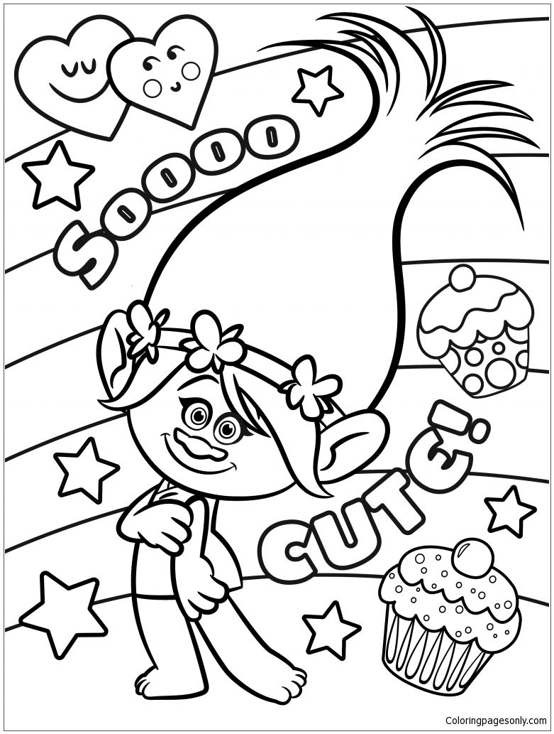Trolls Cute Coloring Page Free Coloring Pages Online Poppy
