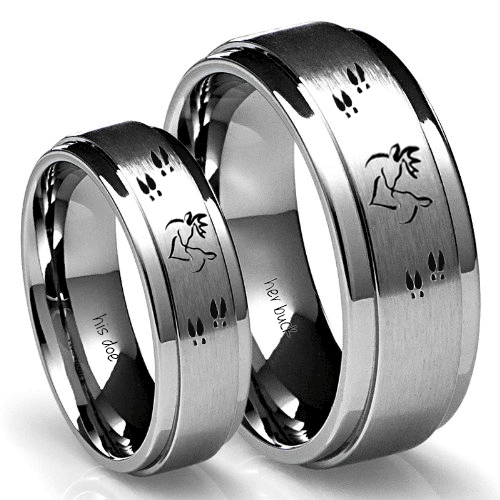 Buck And Doe Ring Set Misc Pinterest Wedding Rings And
