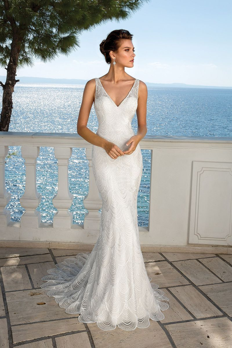 Justin Alexander Style 88057sd Beaded Chandelier Lace V Neck Gown Wedding Dresses Wedding Dresses Lace Justin Alexander Bridal