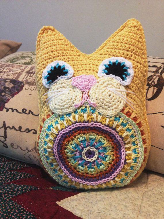 Fat Cat Crochet Pattern PDF Pillow Snuggly Toy Cushion crochet ...