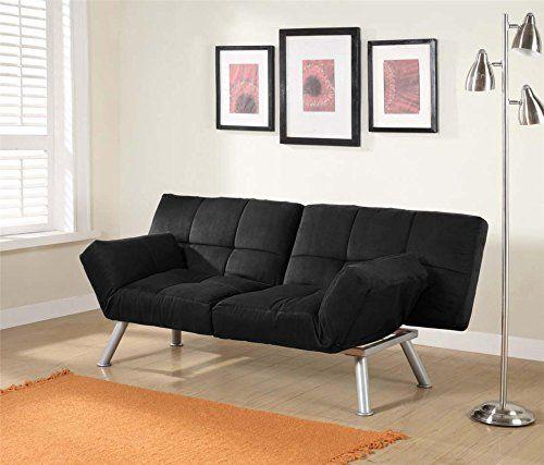 Dhp Euro Futon Couch Full Gray Linen