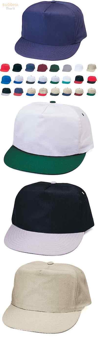 584069665d3 Mens Accessories 45053  1 Dozen Blank Two Tone 5 Panel Baseball Cotton  Twill Hats Caps