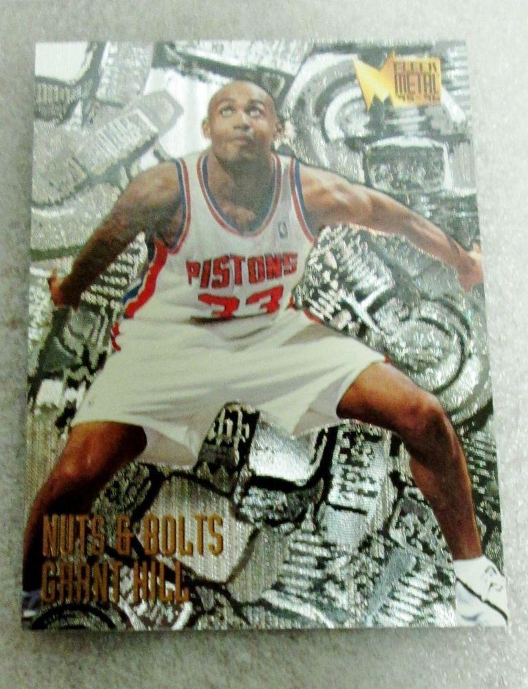 199596 fleer metal grant hill basketball card rookie of