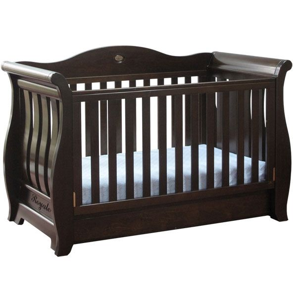 Boori Country Sleigh Royal Cot In Walnut Baby Mode Cots
