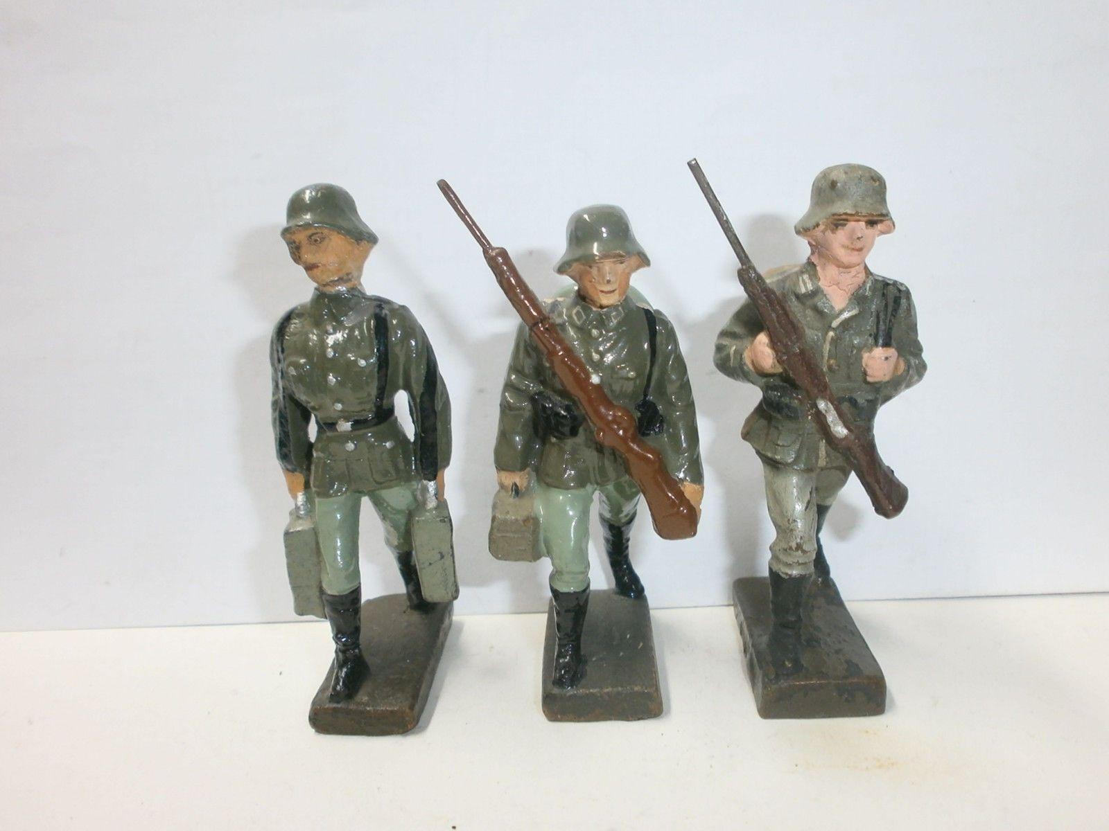 Konvolut 3 alte Lineol Massesoldaten für leichtes Maschinengewehr LMG zu 7.5cm | eBay