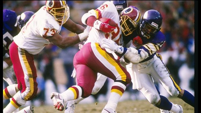 A surprise starter in Super Bowl XXII, Smith ran for 204 yards and two touchdowns as the Redskins trounced the Broncos 42-10. Description from rantsports.com. I searched for this on bing.com/images