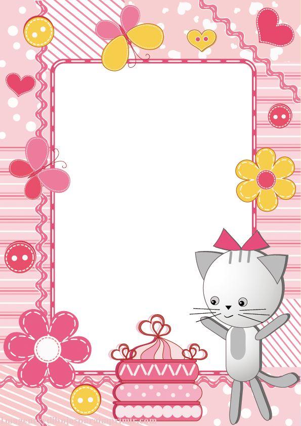Un gatito para bebes marcos para fotos infantiles photo - Marcos de papel para fotos ...