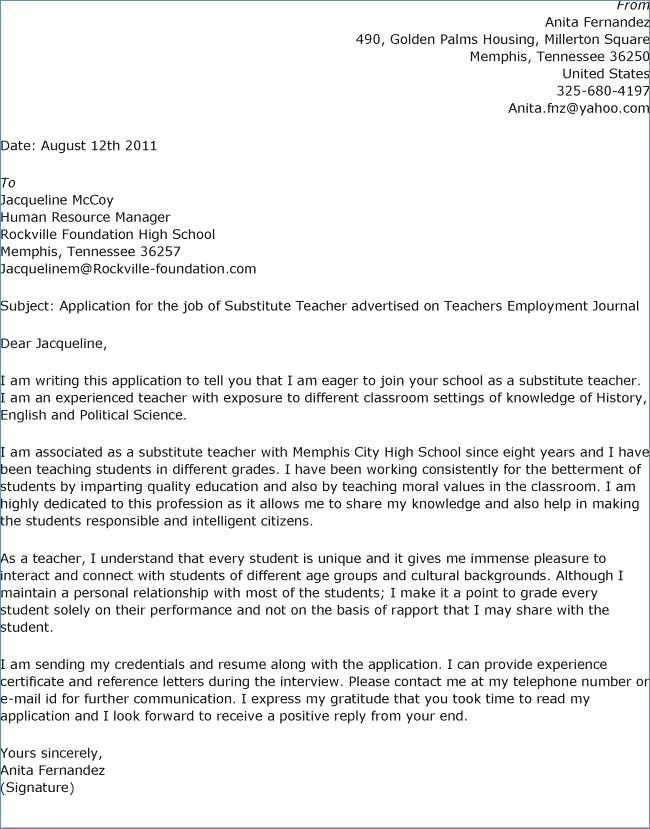 Teacher Cover Letter Examples With Experience from i.pinimg.com