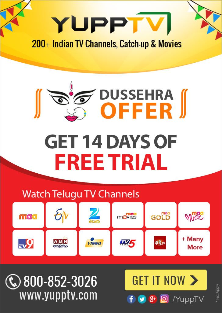 YuppTV is offering Telugu TV Channels at best discounts as