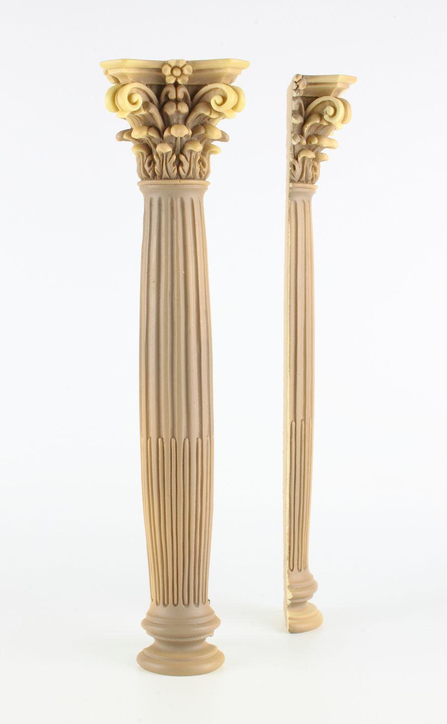 Columna Corintia Adosada De Resina De Poliuretano Belenes Miniaturas Maquetas Columnas Romanas Escaleras De Madera Interiores Diseno De Muros