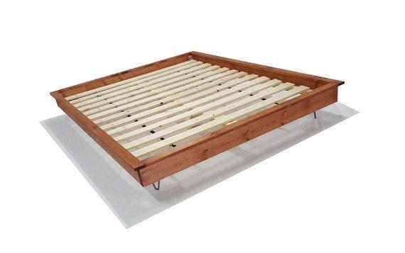 Platform Bed Hairpin Leg Platform Bed Hairpin By Peacelovewood Industrial House Industrial Bed Industrial Flooring