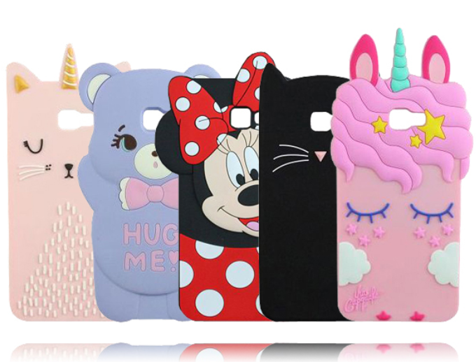 373abd74b Cute Samsung Galaxy J4 Plus Case 3D Unicorn Mouse Cat Soft Rubber Cases For Samsung  Galaxy J6 Plus Phone Cover