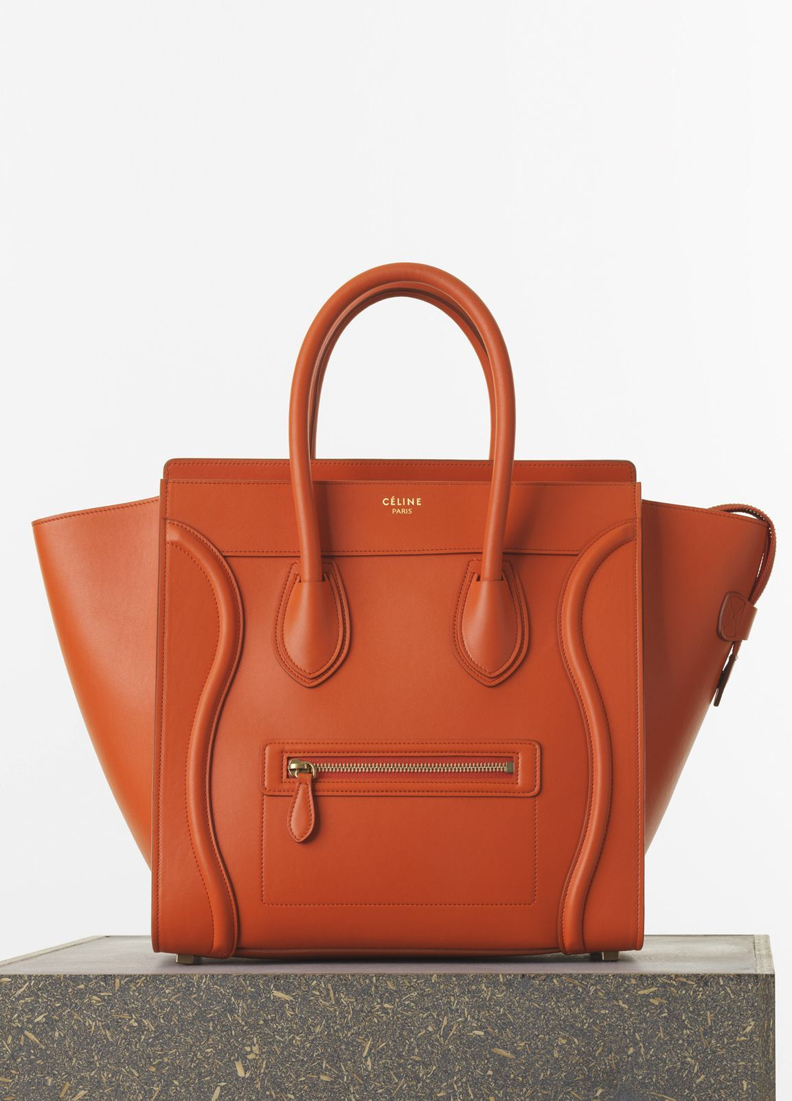 042a1da470 MINI LUGGAGE HANDBAG IN BURNT ORANGE SMOOTH CALFSKIN 30 X 30 X 17 CM (12 X  12 X 7 IN) CALFSKIN AND LAMBSKIN LINING 165213HSC.20BT 2.100 EUR