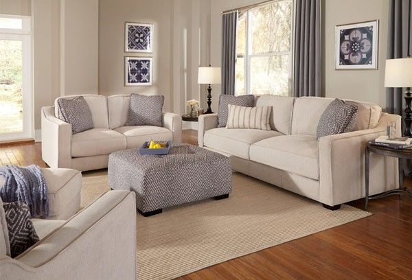 Franklin Furniture Landon 5 Piece Living Room Set 868 Pearl