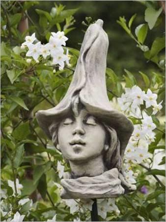 Blumenkind Aus Stein Blutenkopf Blumenkopf Steinguss Blumenkinder Gartenskulptur Calla