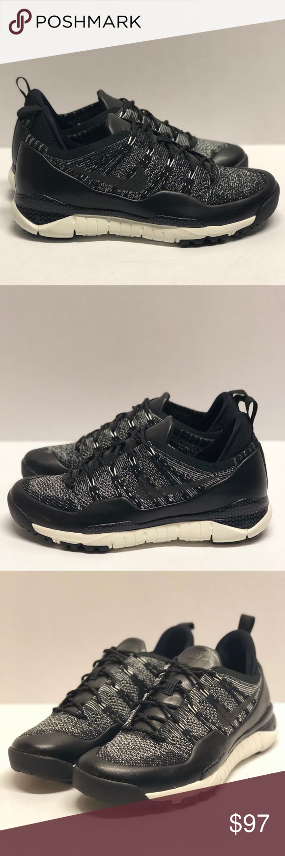 4620a92cdaef7 Nike Mens Lupinek Flyknit Low Sz 9 Oreo boots Brand New condition
