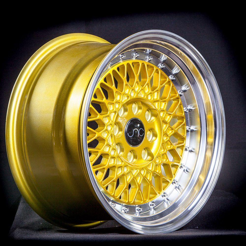 JNC031 Candy Gold Machined Lip Custom wheels, Wheels