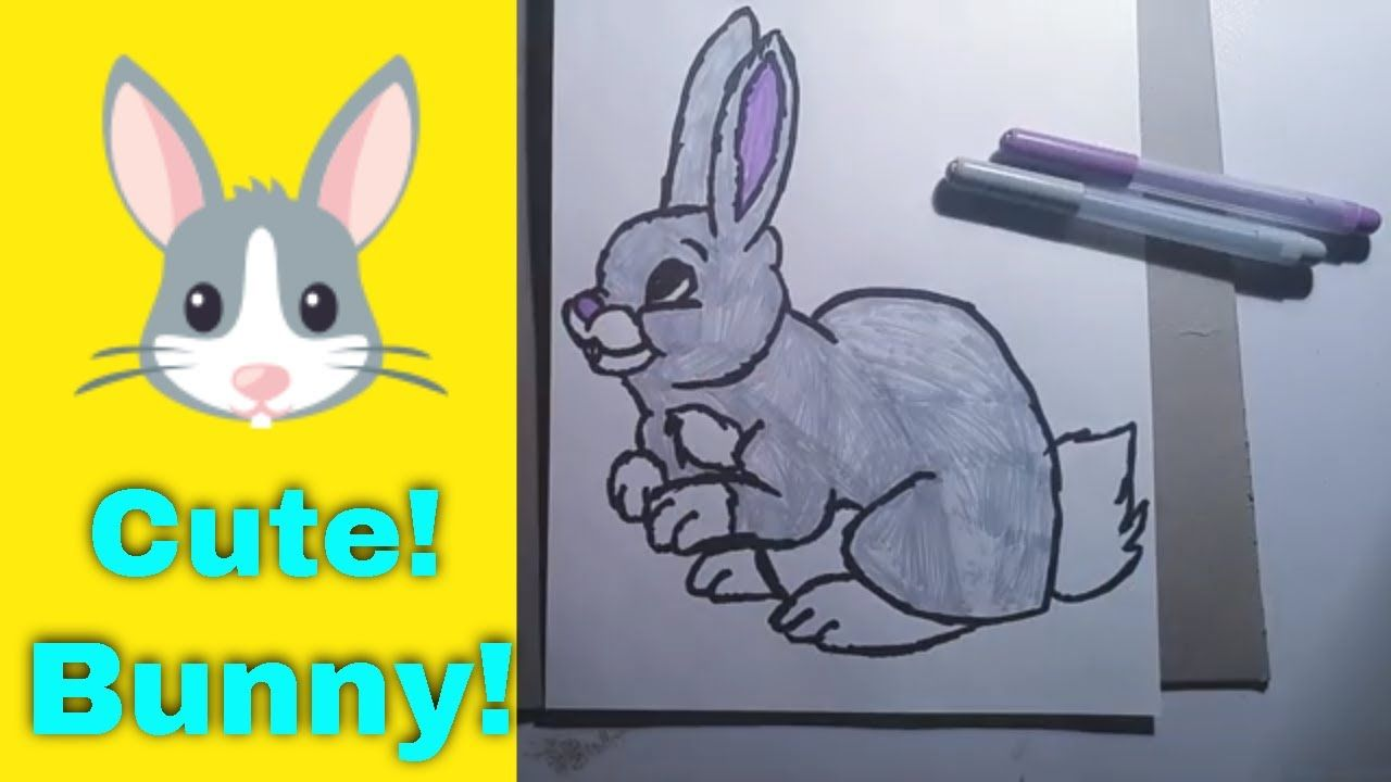 How To Draw A Cute Bunny Markers Adorable Amazing Animals Artforkids Awesome Beginner Bright Bun Cute Bunny Cute Drawings Cartoon Drawings