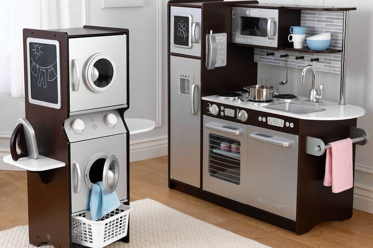 Toy Kitchen Renovation High End Appliances Gourmet Food Kids