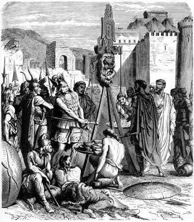 Payment of ransom after the sack of Rome by the Celts ...