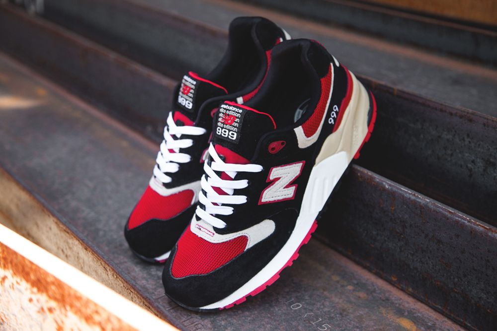 pretty nice 9884d 2c315 New Balance 999 - Black / Red / Tan | Things to Wear | New ...