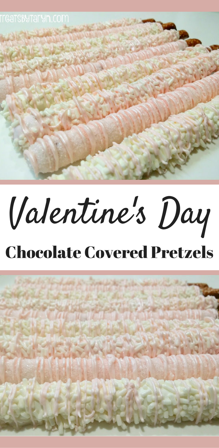 Valentine\'s Day Chocolate Covered Pretzels in Pink and White #ad ...