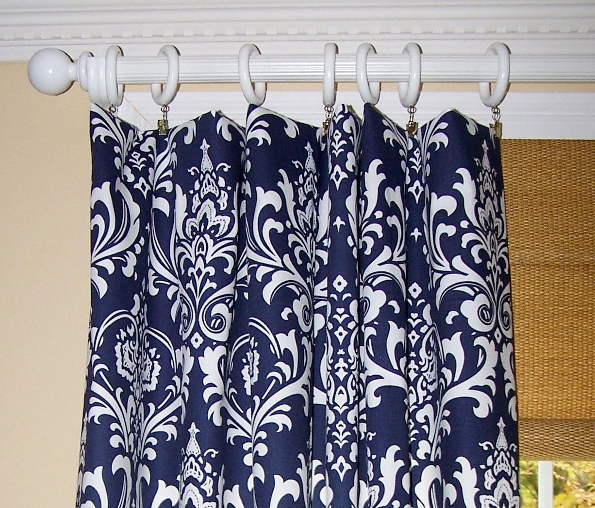 dark blue shower curtain. Blue Curtains Dark Navy  Damask Ozborne Pair Drapery Panels 63 84 96 108 132 24 Wide 52