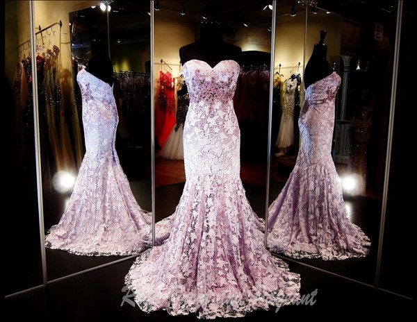 Strapless Lilac Mermaid Long Dress | Prom stores, Pageants and Georgia