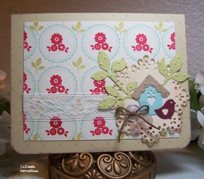 Just Because card -- serioulsy beautiful card using Folk Art Florals