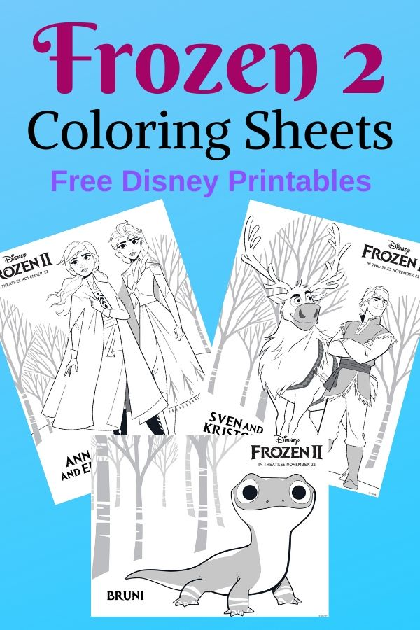 free frozen 2 printable coloring sheets