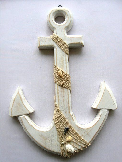 "Amazon.com - Large Anchor Wall Plaque Nautical Beach Tropical Decor - 18"" Tall 12.5"" Wide -"
