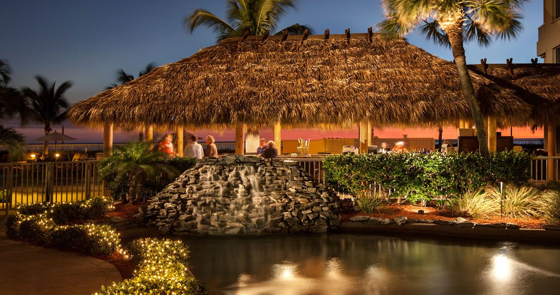The Locally Famous Tiki Bar Overlooking Our Private Beach At Lido