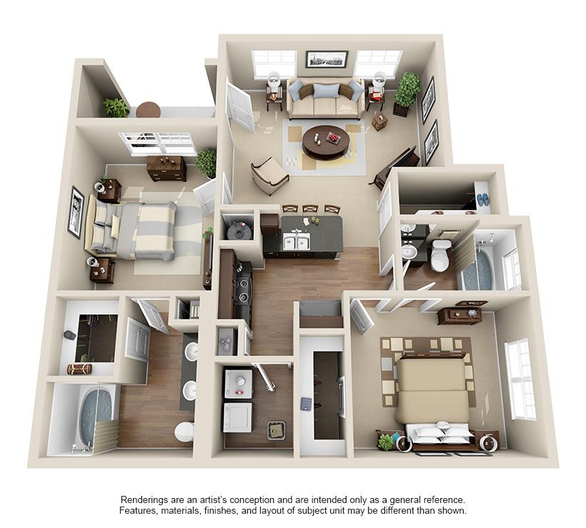 Luxury 1 2 And 3 Bedroom Apartments In Terre Haute In Luxurious Bedrooms Bedroom Layout Design Apartment Terrace