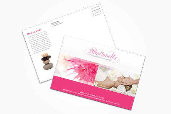 Check out Beauty&Spa Postcard by printdesignbundle on Creative Market