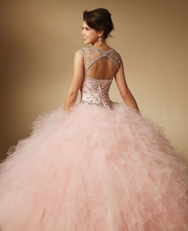 24 Rose Gold Quinceanera Dresses For Wedding Days | Gold quinceanera ...