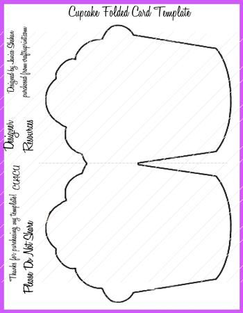cupcake folded card template png paper pinterest cards card